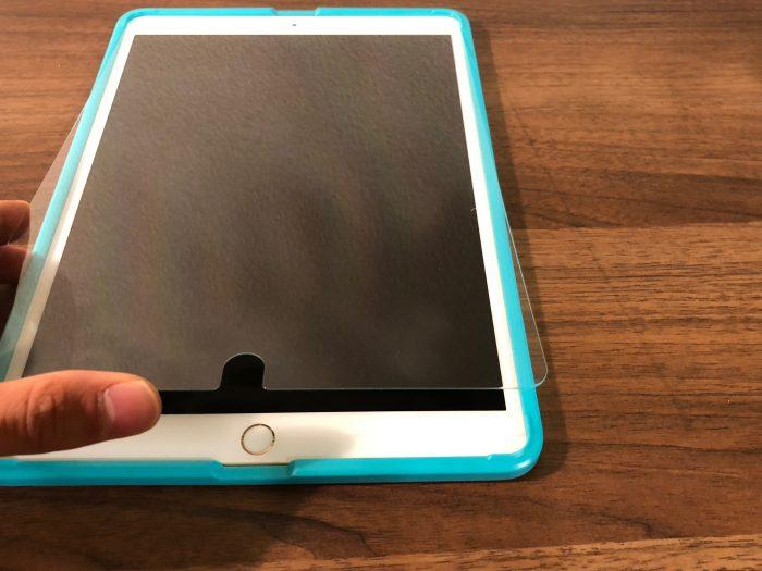 【レビュー】絶対に貼り方を失敗しない保護フィルム『貼り付けガイド枠付き保護フィルム』iPad Pro 10.5インチ用購入してみた!